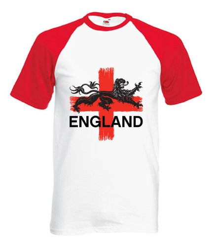 360 Footy – Strong – Angleterre Football T-Shirt Taille S à 2 x L - Blanc - Large