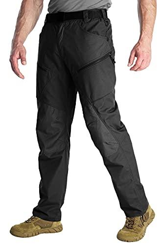 ANTARCTICA Hommes randonnée Tactique Pantalon léger imperméable Jogger armée Militaire Casual Cargo Jogger Pantalon Casual (Noir, 36w / 31l)