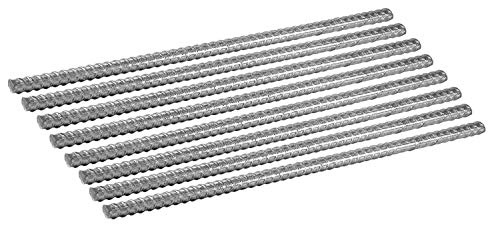 Pinnacle Mercantile Plant Fence Post StakesExtra Heavy Duty Rebar Galvanized 1 Foot 1/2 inch Round Set 8 …