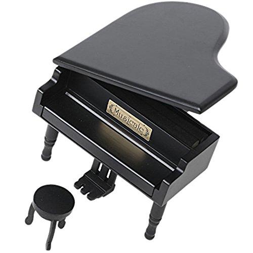 FnLy Caja musical de madera para piano de 18 notas, estilo retro, caja de música de...