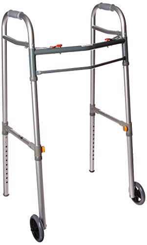 Side brace adjusts with height of walker to provide additional stability Newly designed rear glide cap allows walker to glide easily and smoothly over most surfaces Each side operates independently to allow easy movement through narrow spaces and gre...