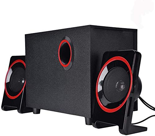 Altavoces con Cable USB, Subwoofer de Sonido Envolvente Estéreo Mini Bass Music...