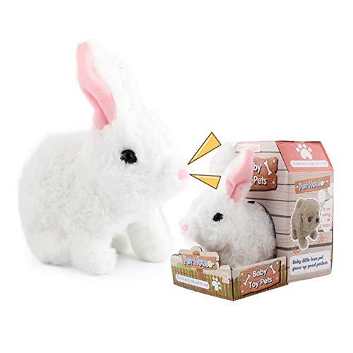 Pets - Interaktiver Plüsch Hase Fancy mit Geräuschen Funktionen, Elektronisches Interaktives Spielzeug Plüsch Hase Batteriebetrieben Spaß Hopfendes Kaninchen Springen Simulations Aktion Tier Roboter