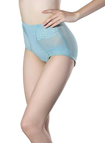 COMVIP Culotte Ventre Plat Slip Taille Haute Sculptante Lingerie Gainante Push Up Amincissant Vert 63-70cm