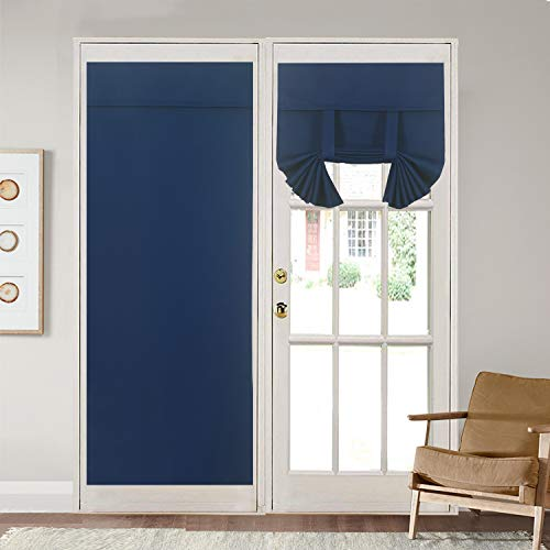 Rose Home Fashion Blackout Door Curtains for Privacy Thermal Insulated Door Curtain PanelsBlackout French Door Window Curtains Energy Efficient Curtain Draperies26quot x 68quot 2pcs:Navy
