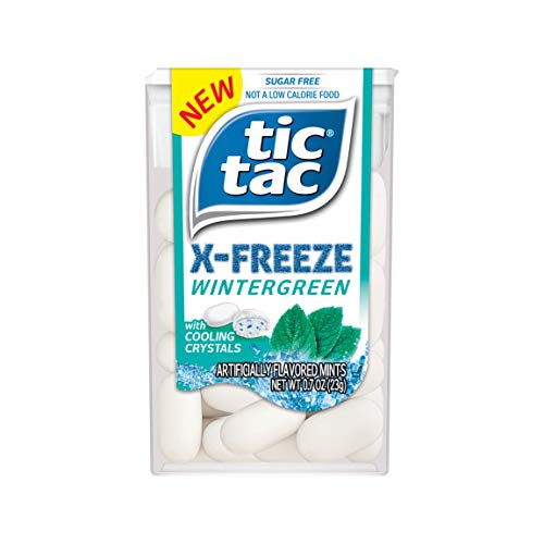 Tic Tac XFREEZE Sugar Free Breath Mints Wintergreen 07 oz Pack of 12 Perfect Easter Basket Stuffers for Boys and Girls