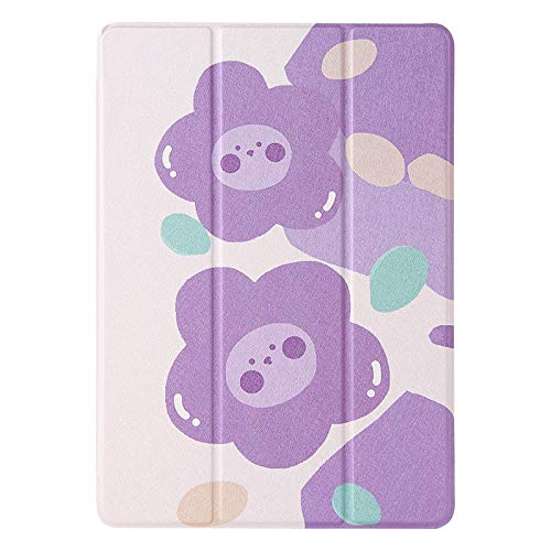 JIan Ying Case for Huawei MediaPad M5 lite 10.1' Tri-fold Lightweight Protective Cover Purple flower