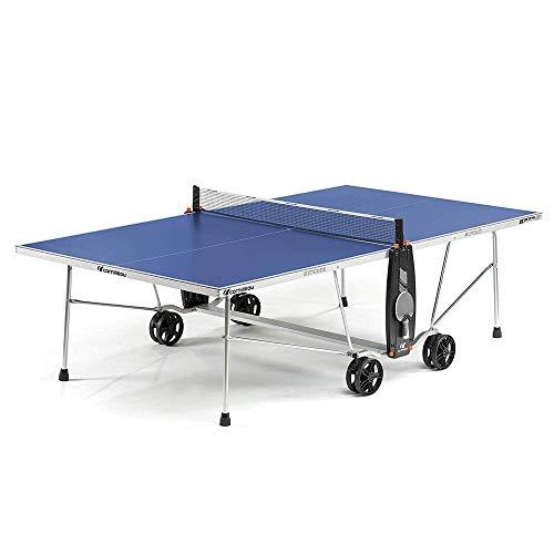 YSYDE De tafeltennistafel in de open lucht laat je eenvoudig wegklappen en kan gemakkelijk worden opgeborgen. Dankzij het brede voetoppervlak kun je op oneffen vloeren probleemloos trainen.