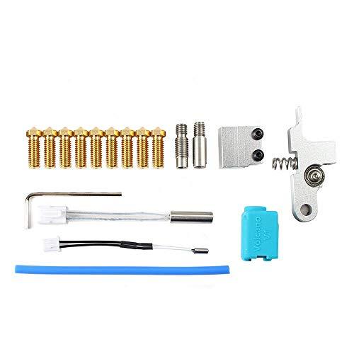 Toaiot Piezas de repuesto para impresora 3D Kit de boquilla de extrusora Tita Hotend con bloque de calefacción V6 Tubo de garganta Brazo de metal para Artille Sidewind X1