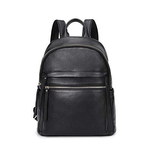Kattee Zaino Donna Pelle Vera Borsa a Zainetto Casuale Vintage Backpack Daypack per Scuola Viaggio Lavoro Shopping