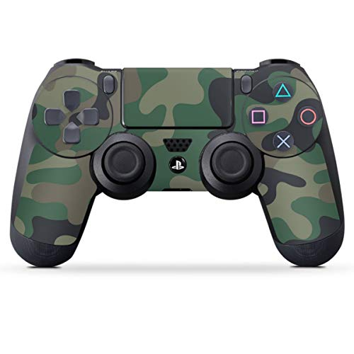 DeinDesign Skin kompatibel mit Sony Playstation 4 PS4 Controller Folie Sticker Blackout Camouflage YouTube