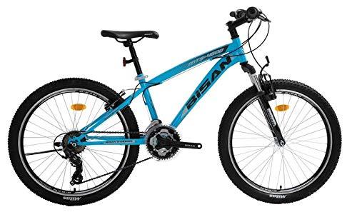 T&Y Trade 24 Zoll Kinder Jungen Mädchen Jugend MTB Fahrrad Kinderfahrrad Mountainbike Jugendfahrrad 21 Gang Sunrun Shimano Bike Rad Gabelfederung Federgabel 4600 V BLAU
