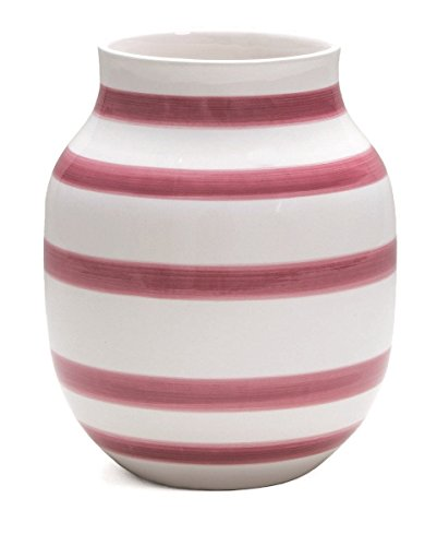 Kähler Omaggio Vase, Mittel, Keramikvase, Blumenvase, H: 20 cm (Rose)