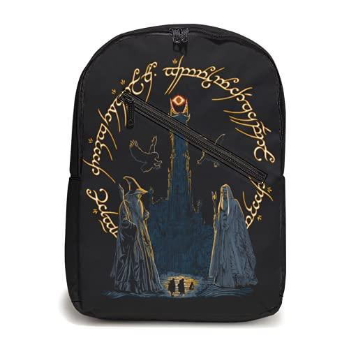 Journey Through Middle-Eard-Rucksack, leicht, multifunktional, für Schule, Laptop, Büchertasche
