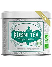 Kusmi Tea - Tropical White Bio - Té blanco con sabor a mango y fruta de la pasión - Lata de 90g