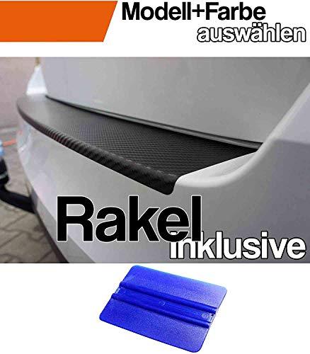 X1 F48 Ladekantenschutz Lackschutzfolie von CCW© mit Profi-Rakel in 3D Carbon Schwarz