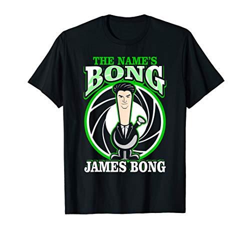 The Name is Bong James Bong parody Weed 420 Stoner T-Shirt