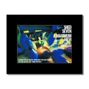 Music Ad World SHED SEVEN - A Maximum High Mini Poster - 21x13.5cm