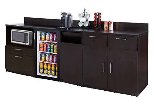 Coffee Kitchen Lunch Break Room Furniture Cabinets Fully Assembled Ready to Use 3pc Group Model 3295 Color Espresso - Instantly Create Your New Break Room!!! (Note: Purchase Includes Furniture ONLY).