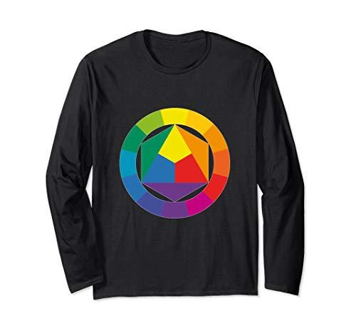 Farbrad Palette Hemd Künstler Maler Kunstlehrer T-Shirt Langarmshirt