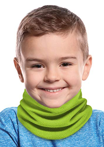 Tough Headwear Kids Neck Warmer - Fleece Neck Gaiter Face Mask Cover - Winter Ski Tube Scarf for Boys & Girls - Child Cold Weather Gaiters