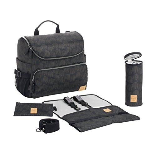 LÄSSIG Baby Wickeltasche Babytasche Kliniktasche Stylische Tasche Mama/Casual All-a-round Bag,schwarz