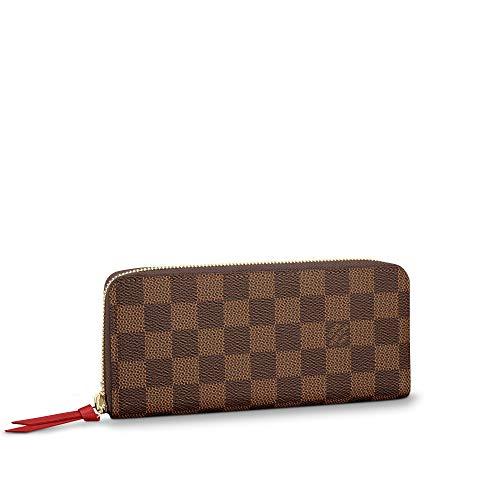 Louis Vuitton Clemence Wallet Damier Ebene Canvas (Cherry)