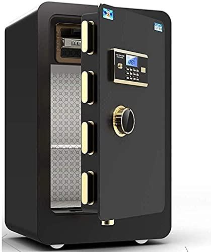 Caja de seguridad electrónica de acero a prueba de fuego para oficina en el hogar Caja de seguridad electrónica digital, cajas fuertes de acero de alta seguridad XX Combinación digital segura gra