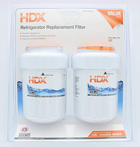Refrigerator Water Filter (fits in place of GE model MWF) (Dual Pack)
