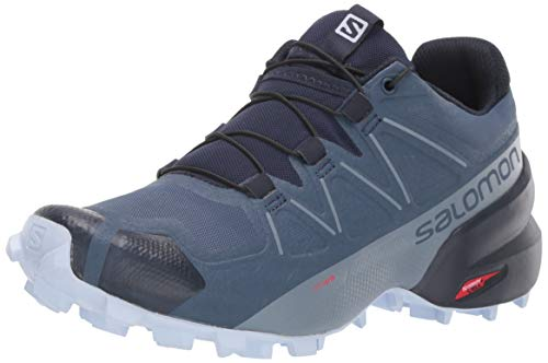 Salomon Women's Speedcross 5 W Trail Running Shoe, Sargasso Sea/Navy Blazer/Heather, 9