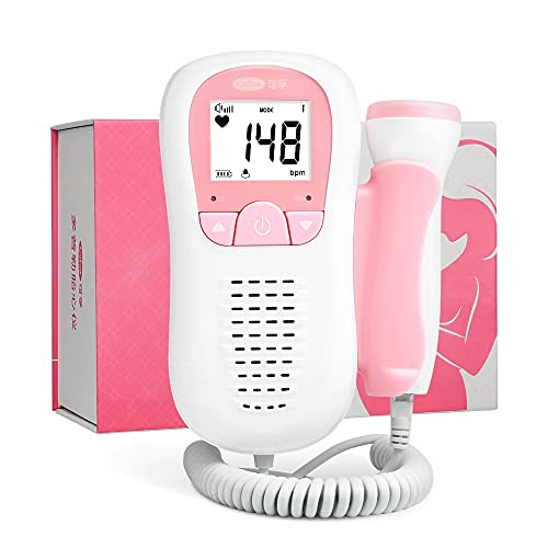Para escuchar al bebé durante el embarazo – Pantalla fiable y precisa – Monitor + Pilas profesionales de larga duración + Gel de contacto de grado hospitalario