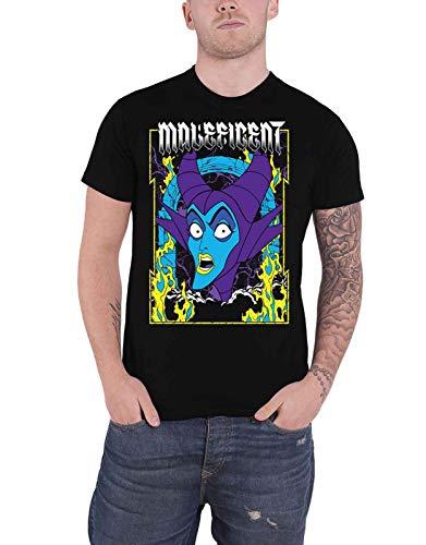 Disney Maleficent T Shirt Villain Queen Logo Nue offiziell Herren Schwarz