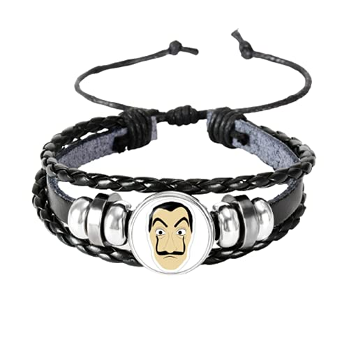 Halloween pulsera de dinero atraco braclet para mujeres hombres vidrio metal cuero La casa de papel pulsera accesorios joyería encanto