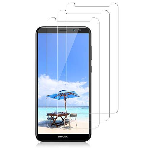 CRXOOX 3 Piezas Protector de Pantalla para Huawei Mate 10 Lite, Cristal Templado Vidrio Templado [Fácil de Instalar] [Sin Burbujas] [3D-Touch/9H Dureza] [Anti-Aceite] - Transparente