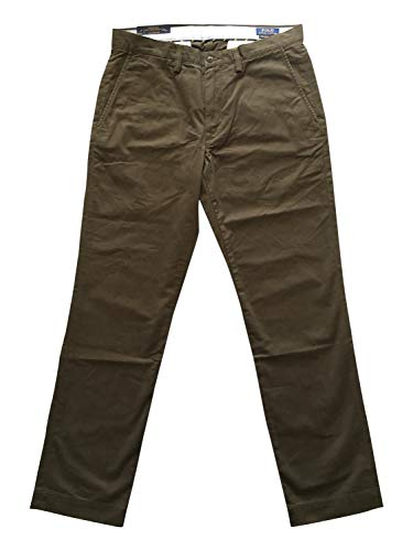 Polo Ralph Lauren Mens Classic Fit Stretch Chinos (Green, 31X32)