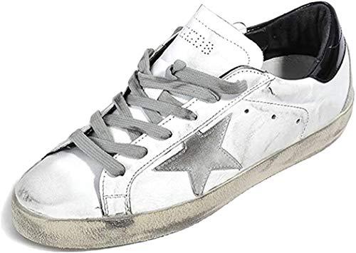 Golden Goose Damen Sneakers GGDB Leder Casual Schuhe Low Top Slide, Schwarz - Schwarz - Größe: 36 EU