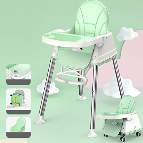 MELAG Convertible High Chair Baby Dining Feeding Highchair Baby Dining Chair Dining Foldable Portable IKEA Baby Chair Multifunctional Dining Chair Chair Child Dining Table PU Leather Fabric