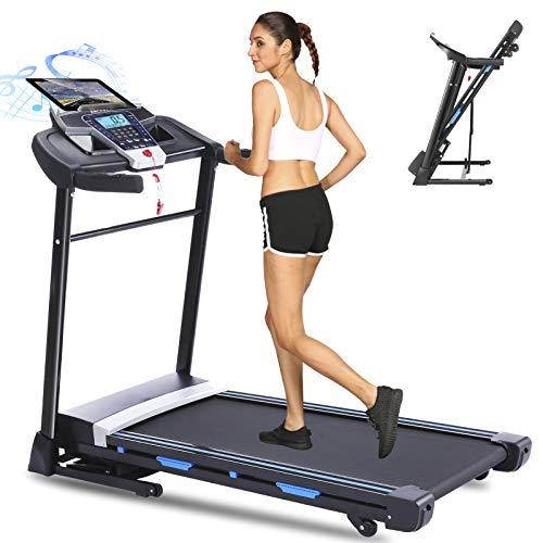 ANCHEER Folding Treadmill - Treadmills for Home Running Jogging Walking Electric Motorized Machine with Incline - Fitness Gym Cardio Workout Equipment with Speakers & 12 Preset Programs, APP Control