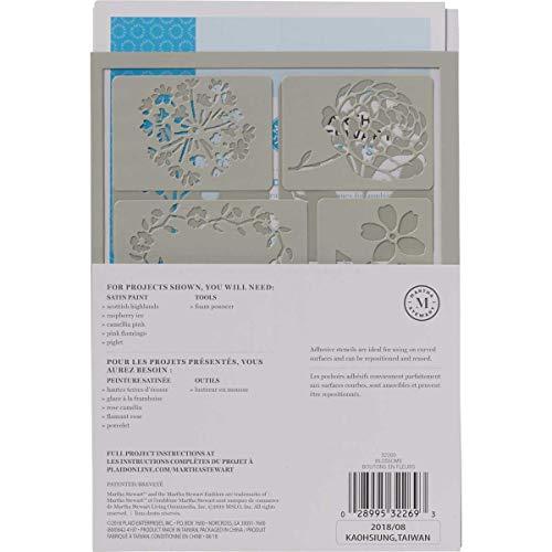 マーサスチュワートクラフト粘着式ステンシルブラッサムMS-32269