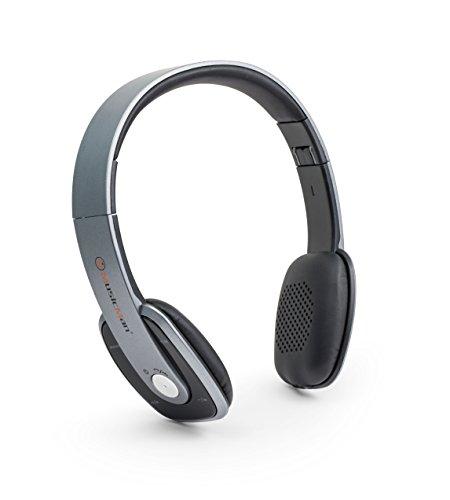 Technaxx Bluetooth Closed Headset + FM + Freisprecheinrichtung, Grau (BT-X27)