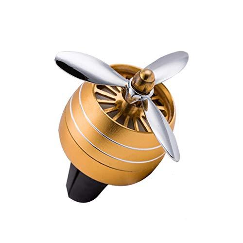 OOE Mini Olor Olor a Aire Acondicionado acondicionando aleación Auto ventilación Salida Perfume Clip Fresco aromaterapia Fragancia atmósfera luz (Color Name : Gold Combination)
