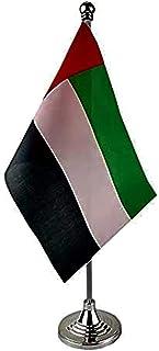 THE BABA UAE TABLE FLAG WITH FLAG - DESK FLAG علم دولة الإمارات العربية المتحدة بسارية يوضع على الطاولة