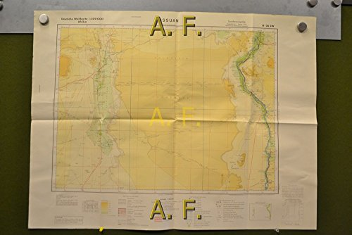 Assuan, Afrika, Deutsche Weltkarte, G-36 SW, 1 : 500.000 (ca. 80 x 60 cm)
