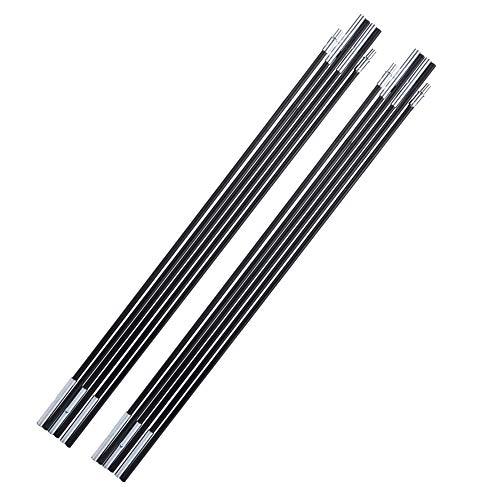 MAGT Set Von 2 Universal Fiberglas Zeltstangen, Klappzeltstange Stützrahmen Für Campingausrüstung Ersatz (Farbe : Black)