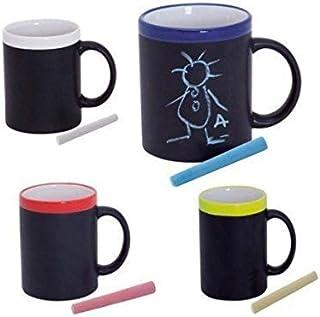 Taza Pizarra para Colorear Pintar con Tiza + Caja (Precio ...