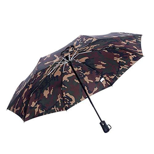 ASDFGJHJH Regenschirm- Tarnungs-dreifacher automatischer Regenschirm, faltender einzelner Regenschirm, personalisierter kreativer Trend-Regenschirm (Farbe : Braun, größe : 60cm)