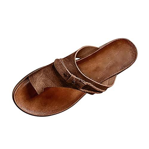 Nuevo 2021 Chanclas Mujer Flip flop Sandalias Mujer Verano Cómodo masaje planas Sandalias de Vestir Playa Chanclas para Mujer Zapatos Sandalias de Punta Abierta Roma casual Sandalias Fiesta
