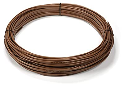 Thermostat Wire 18/7 - Brown - Solid Copper 18 Gauge, 7 Conductor - CL2 (UL Listed) CMR Riser Rated (CL3) - Residential, Commercial and Industrial Rated - 18-7