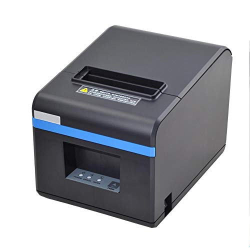 TXYJ thermoprinter bonprinter, 80 mm, rekenmachine, thermo-ticketprinter, met auto-cut printkop, met USB voor POS/ESC print, met USB-aansluiting