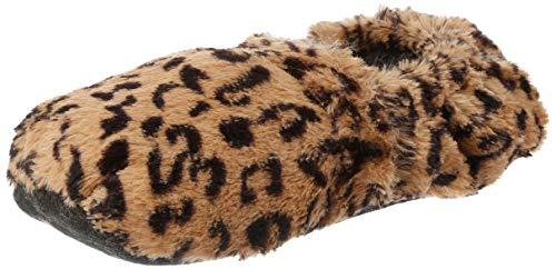 Thermo Sox aufheizbare Hausschuhe für Mikrowelle und Ofen - Mikrowellenhausschuhe Wärmepantoffeln Wärmehausschuhe Wärmeschuhe Fußwärmer Supersoft, Leopard, 36/40 EU